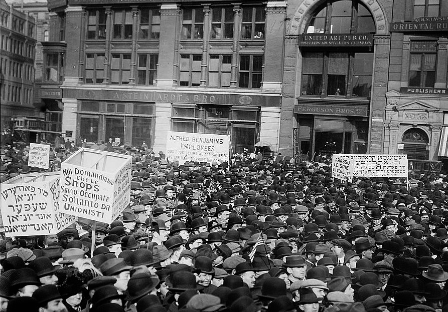 May Day 1913, strikers in Union Square