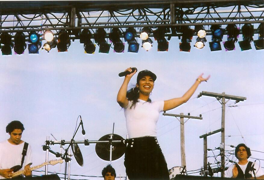 Selena in concert in McAllen, Texas