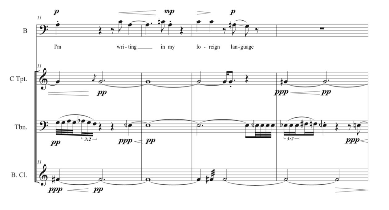 Sheet Music - Gabriel Bouche Caro on Giannina Braschi