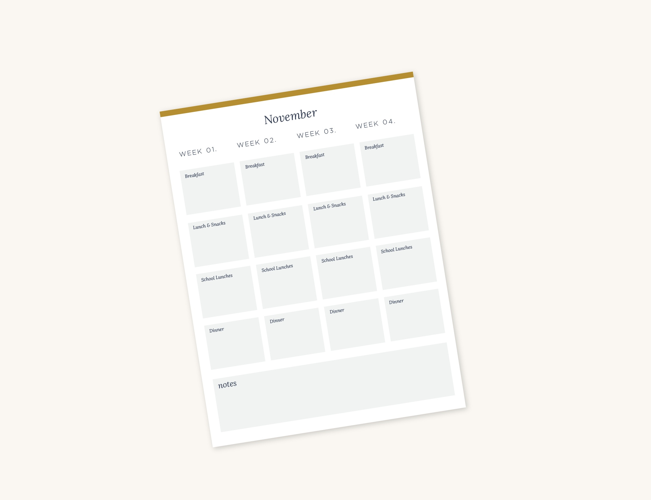 Monthly Meal Plan - May 2019