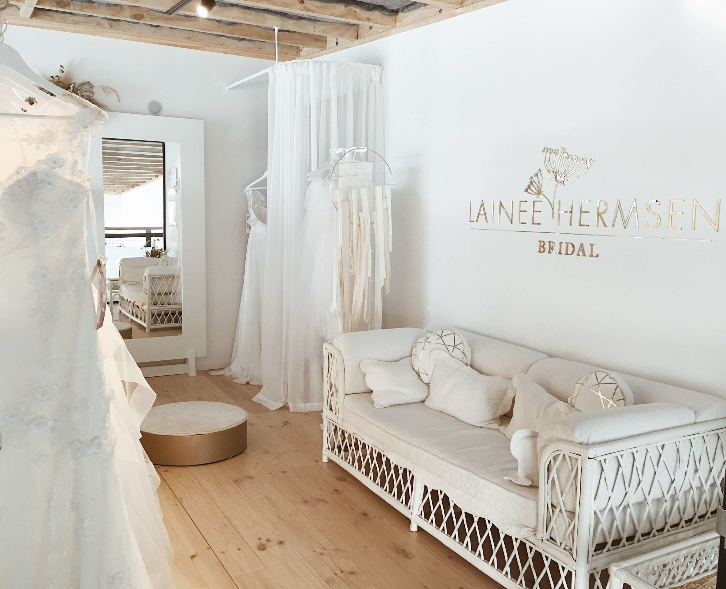 LAINEE HERMSEN BRIDAL - The Got It Covered Nelson showroom has a boutique space located on the mezzanine floor dedicated to the Lainee Hermsen Bridal flagship store.The wedding dress collection is available to view during opening hours and bookings are taken for a private consultation.Got It Covered is the top of the south stockist of Lainee Hermsen Bridal and the only place where you can deal directly with the designer herself.To book a private consultation please fill in the form below and we will get back to you with availability.