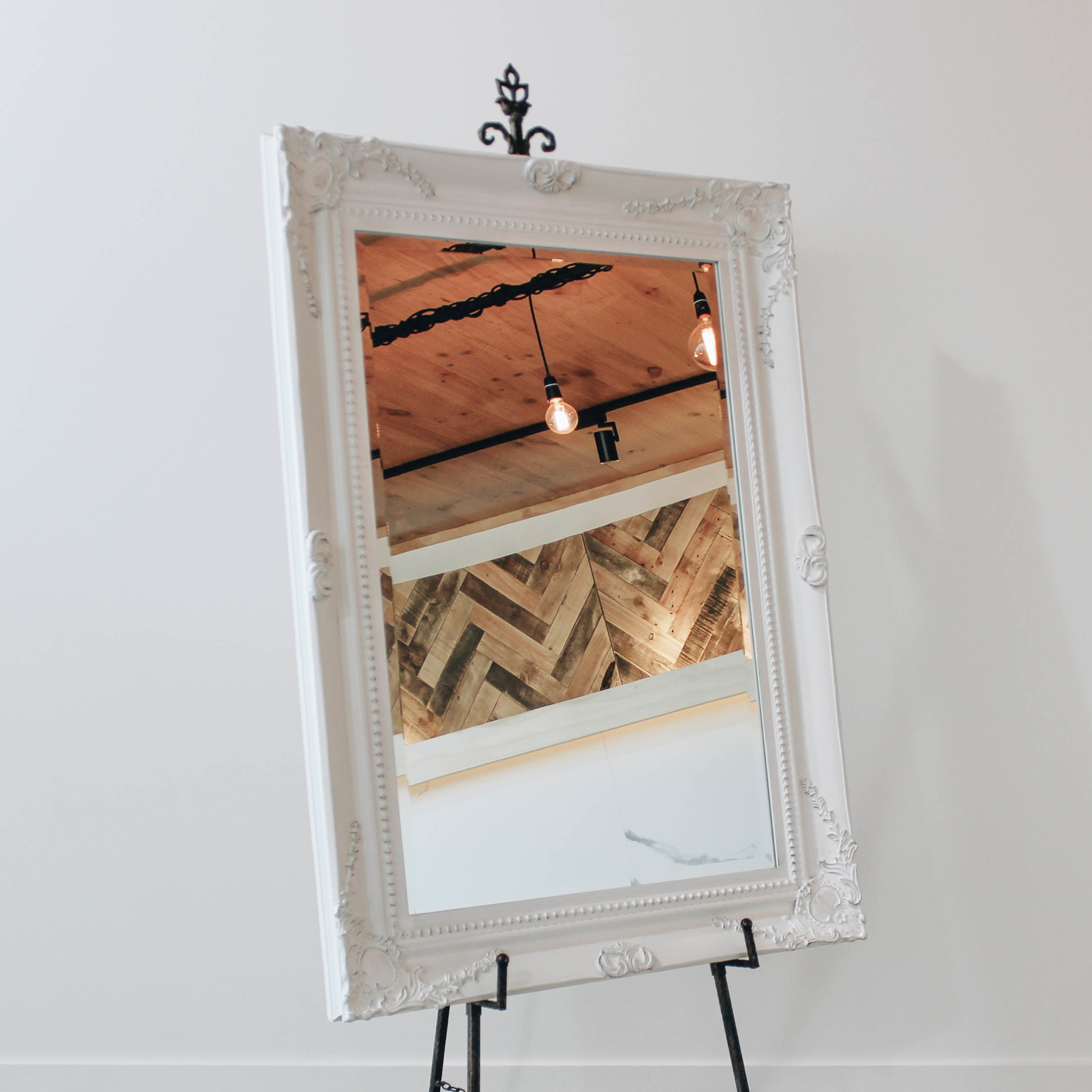 Large White Ornate Mirror Got It Covered Wedding Events Hire Design
