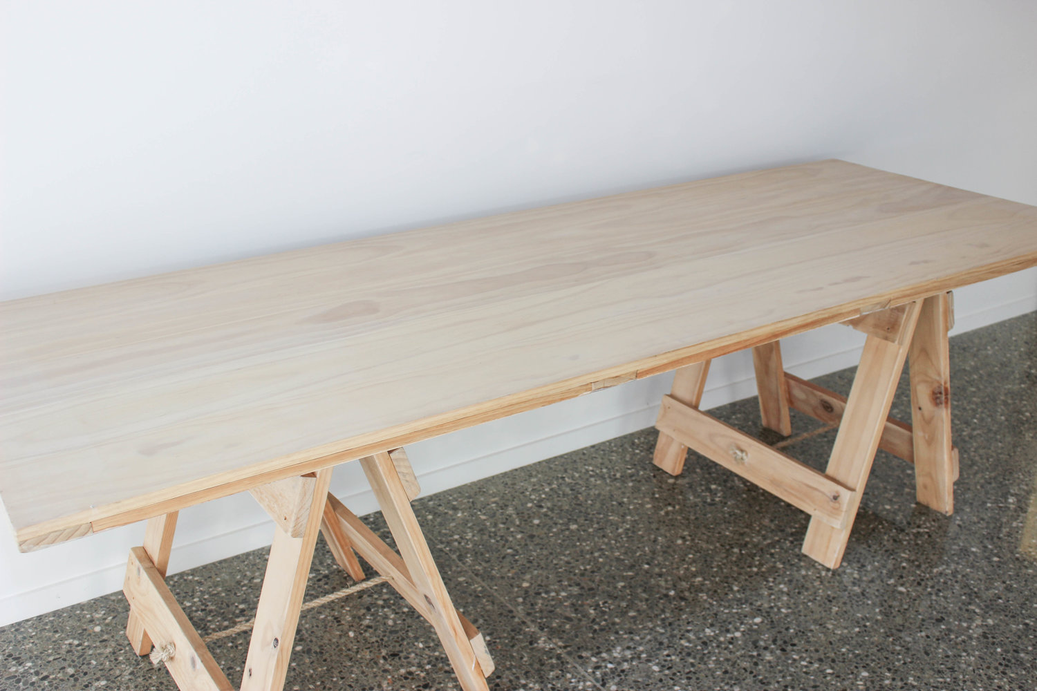 Wooden Trestle Table Got It Covered