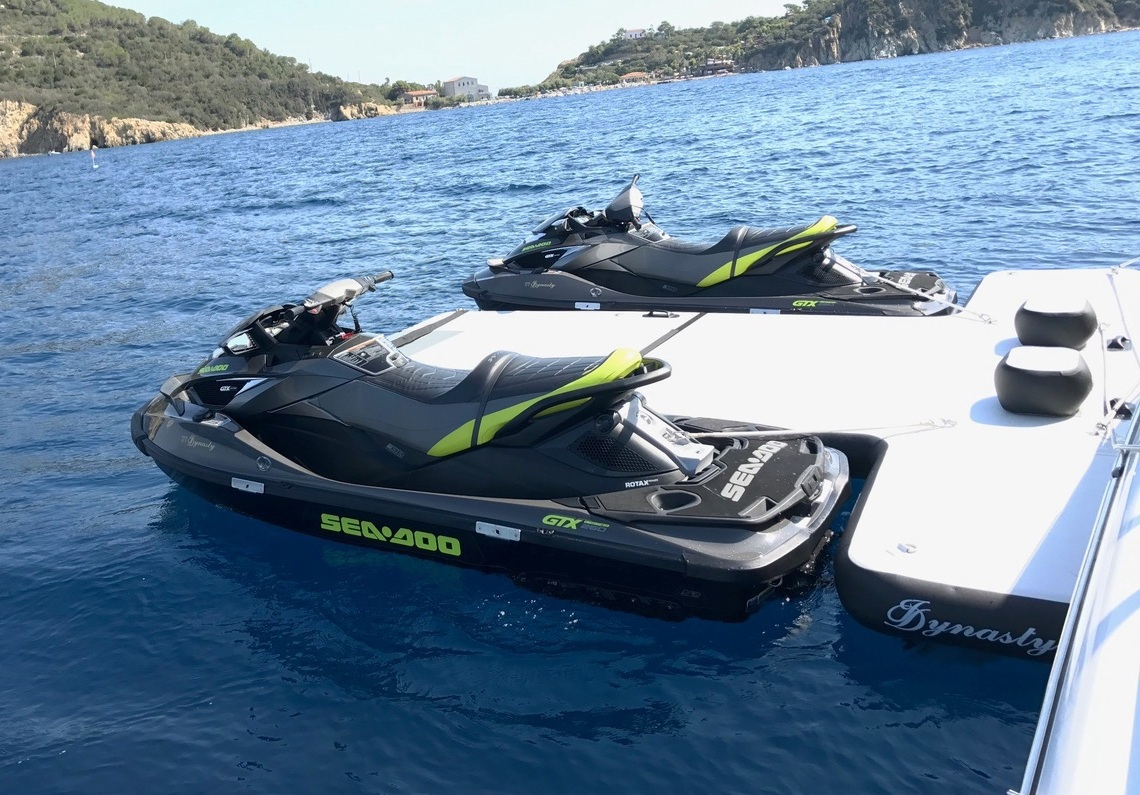 Jet Ski and Tender Dock - A stable and safe platform for visitor transfer, limiting damage to transoms and craft