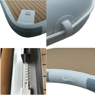 Extra Features - Unique design detailing to truly customise your platform, such as 'D' rings, perimeter rope, quick zip to connect platforms and handles