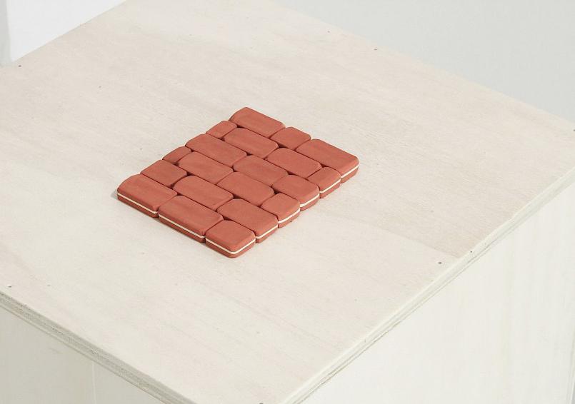 Erasure Study,  2015   rubber erasers     14 x 10 cm