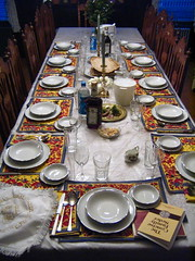 Seder Dinner Table for Passover Holiday