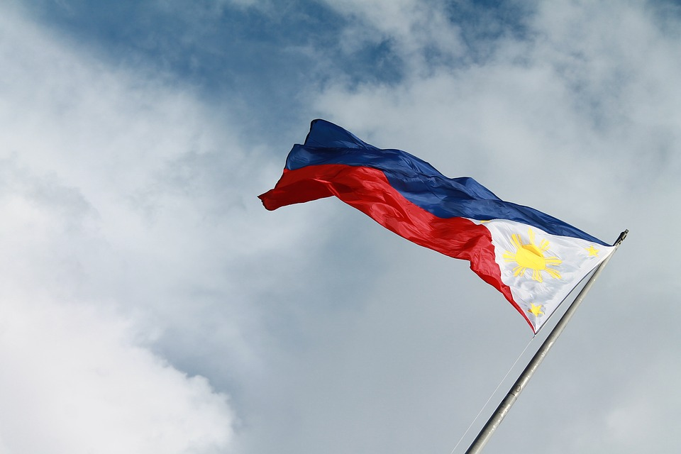 Filipino flag in sky
