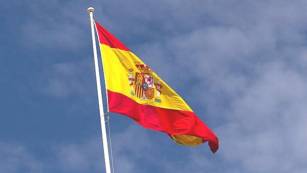 Spanish flag in sky