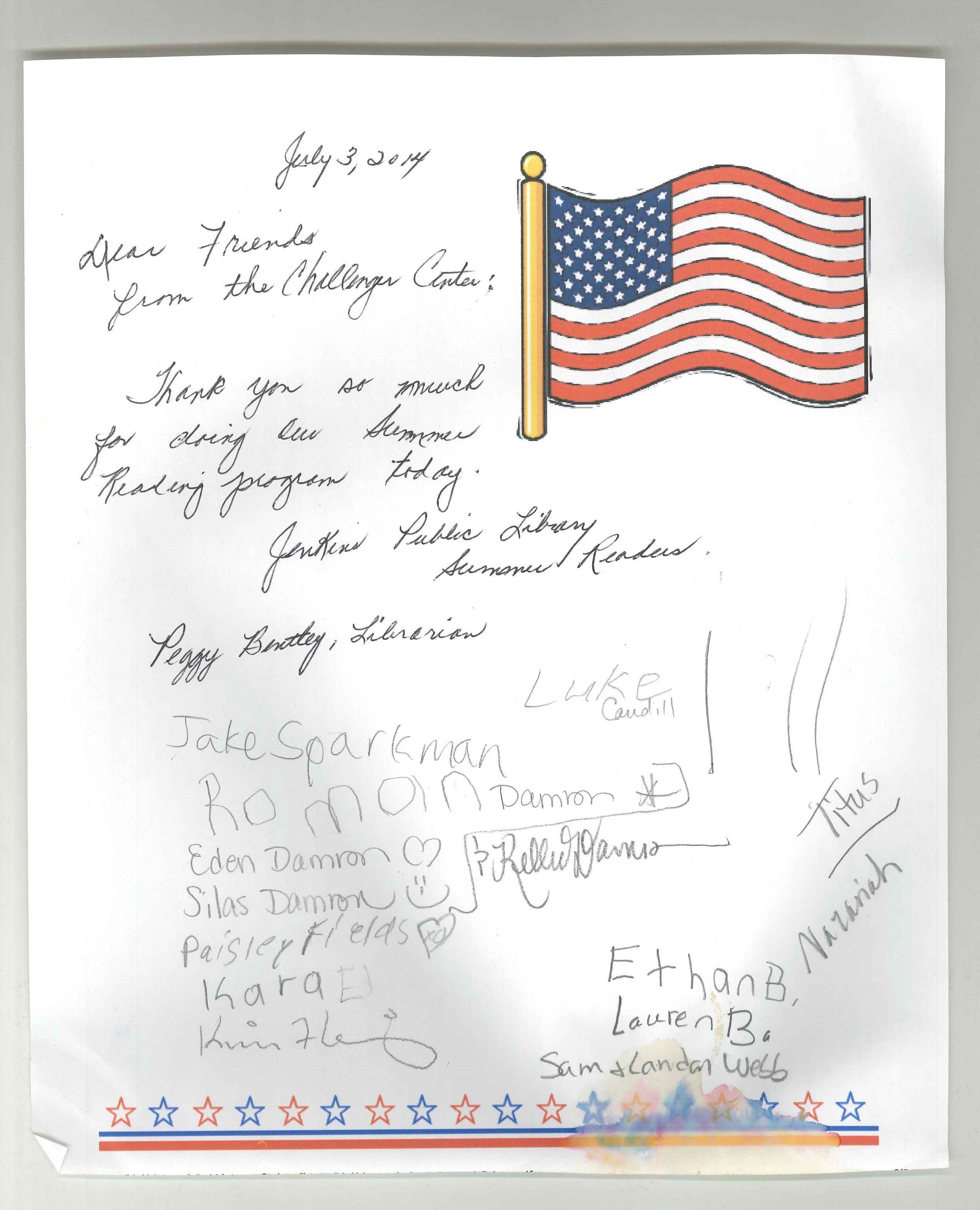2014-07-03 Thank you letter for summer reading program.jpg