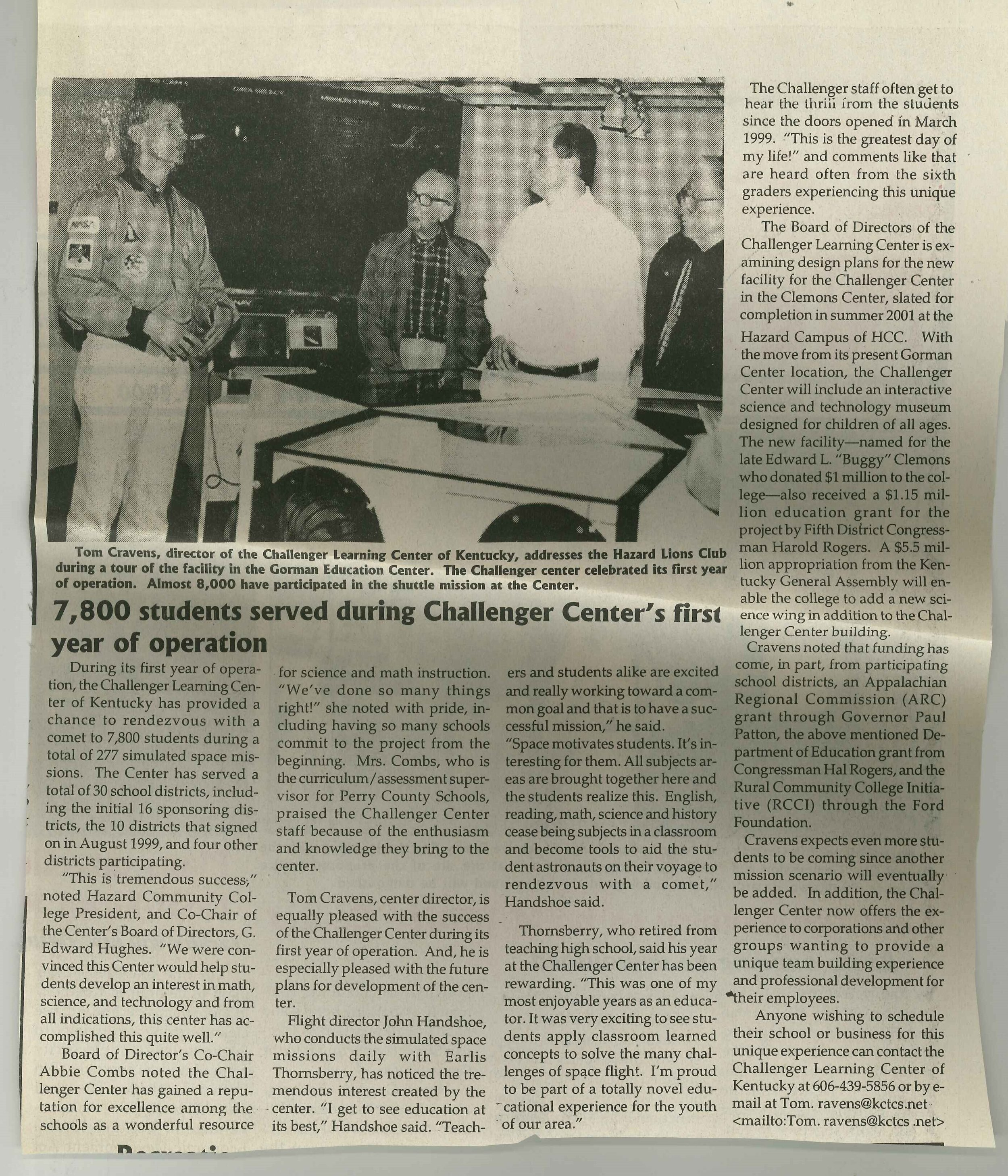 2000-04-06 Perry County News 7800 students served during challenger cernter first year of operation.jpg