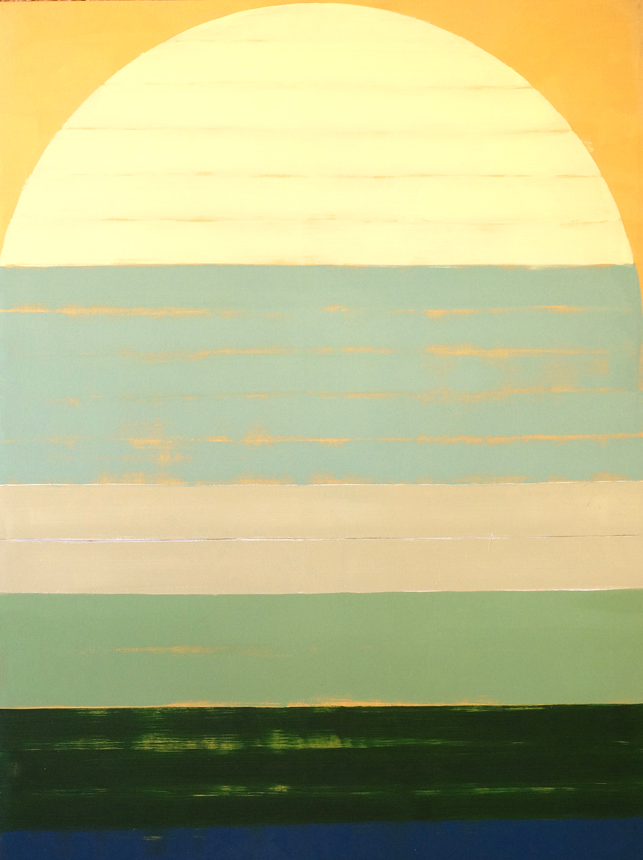 TIDES & ARCHES (LOW TIDE) ,  2018  OIL AND ACRYLIC ON LINEN  160 X 120 CM