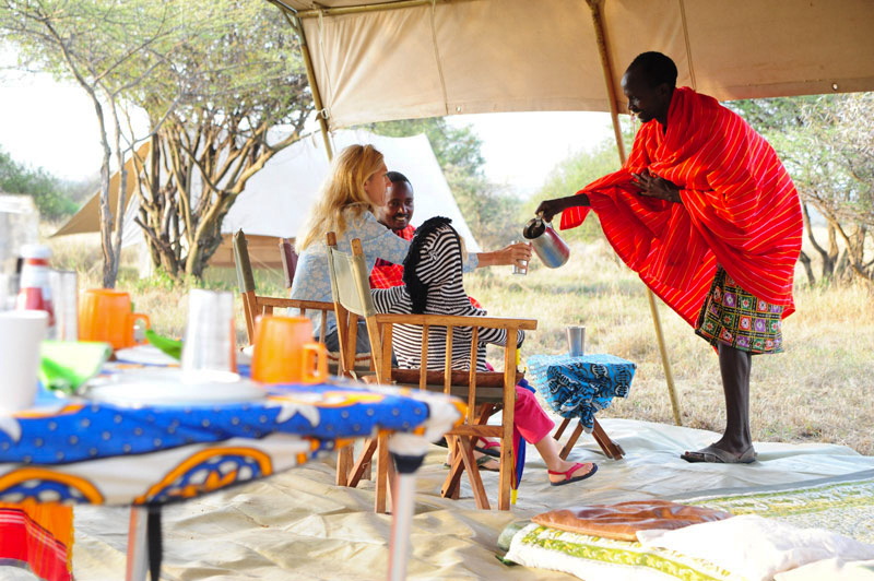 - Exclusive walking safari from base camp set up remotely in a wildlife rich area.