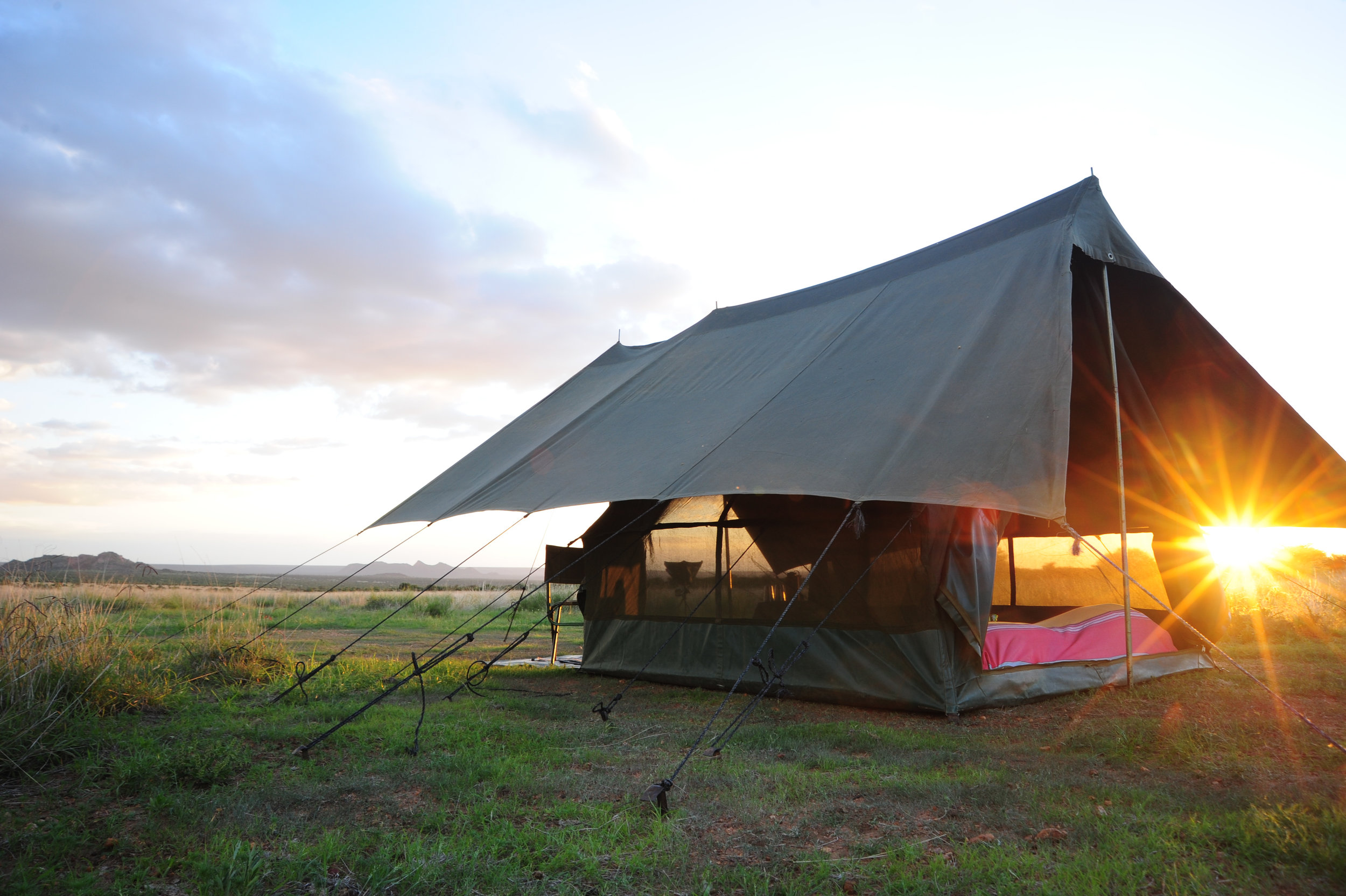 - Exclusive Mobile Walking Safari with camels moving camp each day. Staying in traditional safari tents.