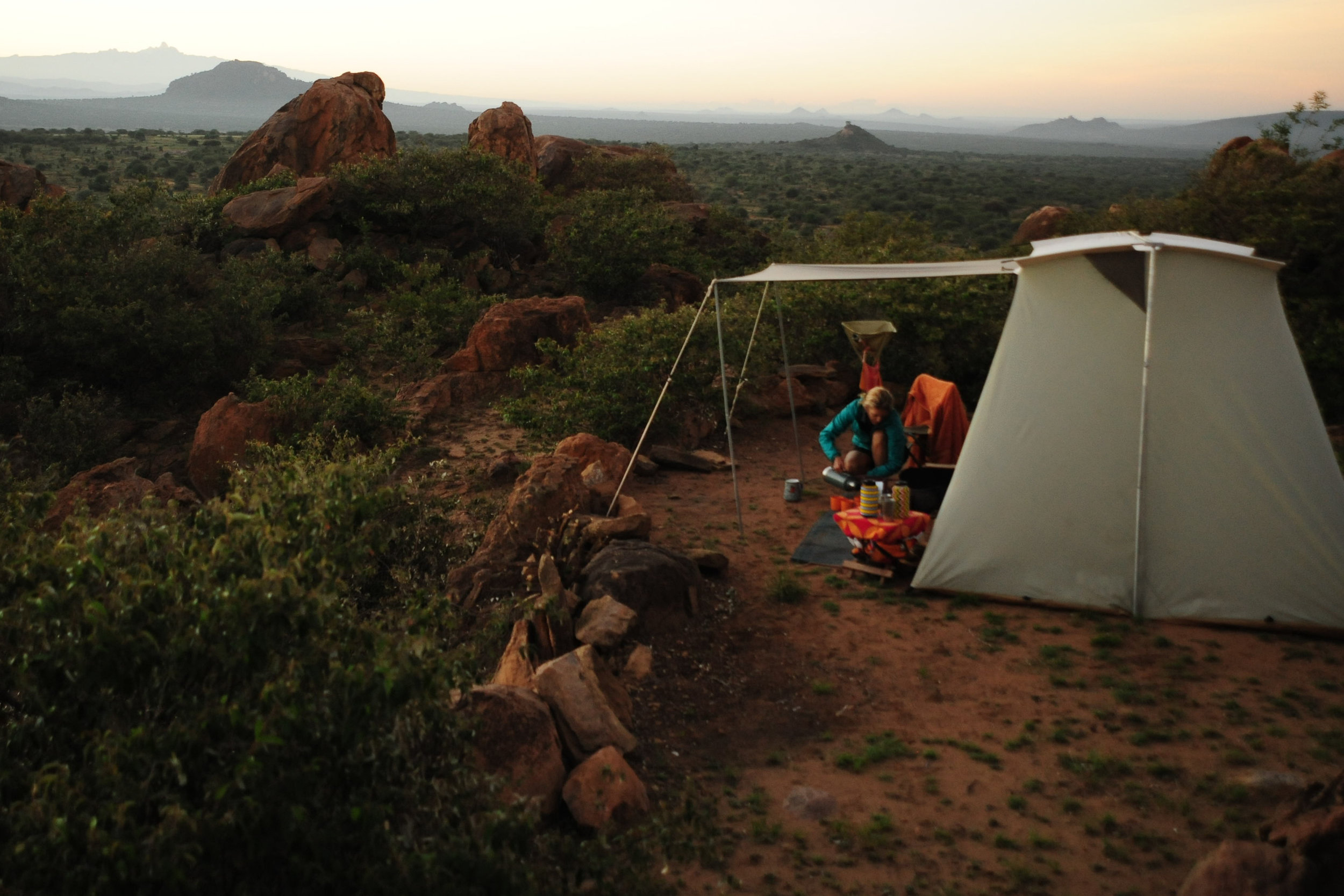 - Exclusive Mobile Walking Safari. Camels moving camp each day. Staying in Kodiak Canvas Tents.