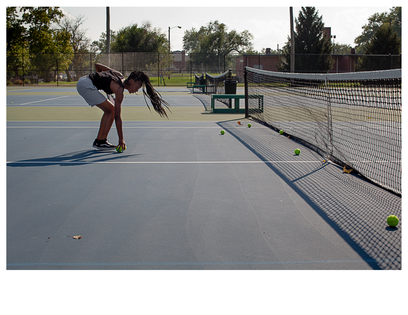 High School Tennis Player in Lincoln Park, East St. Louis, IL