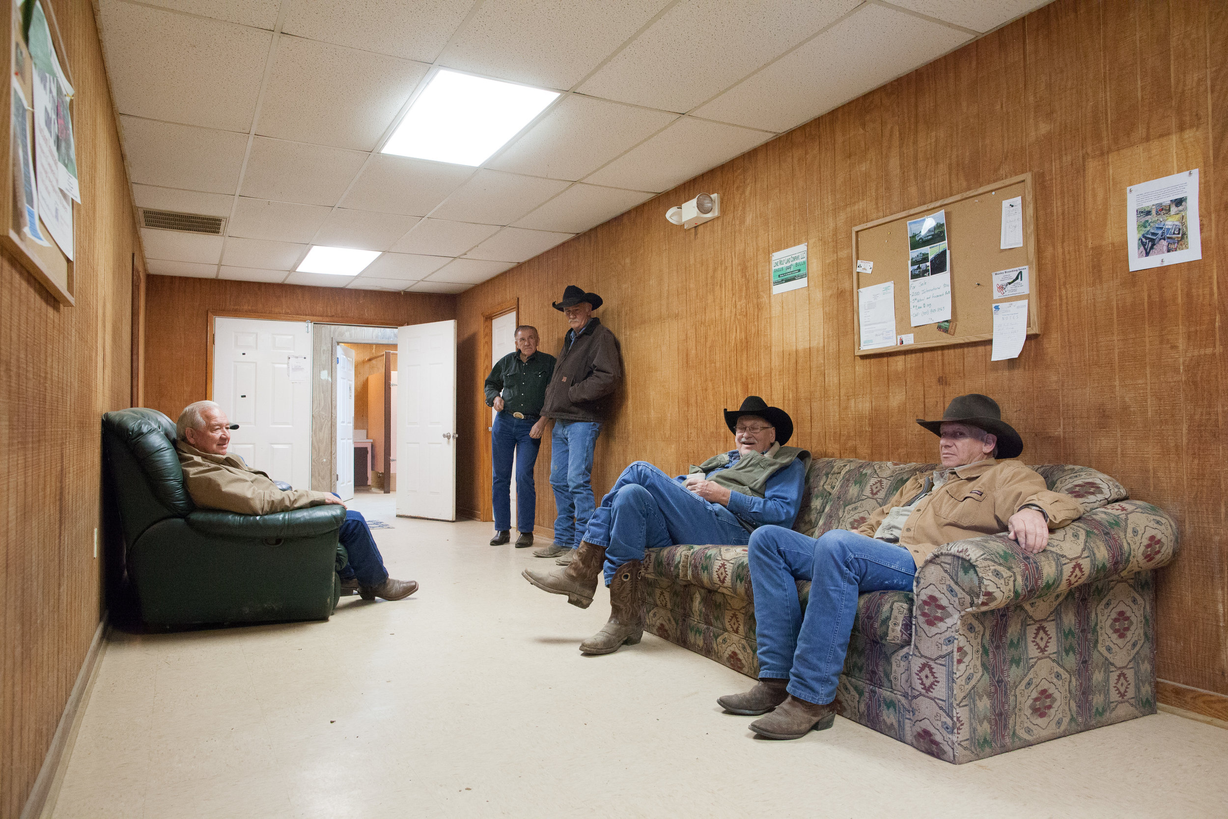 Waiting Room at the Mansura Livestock Auction, Mansura, LA