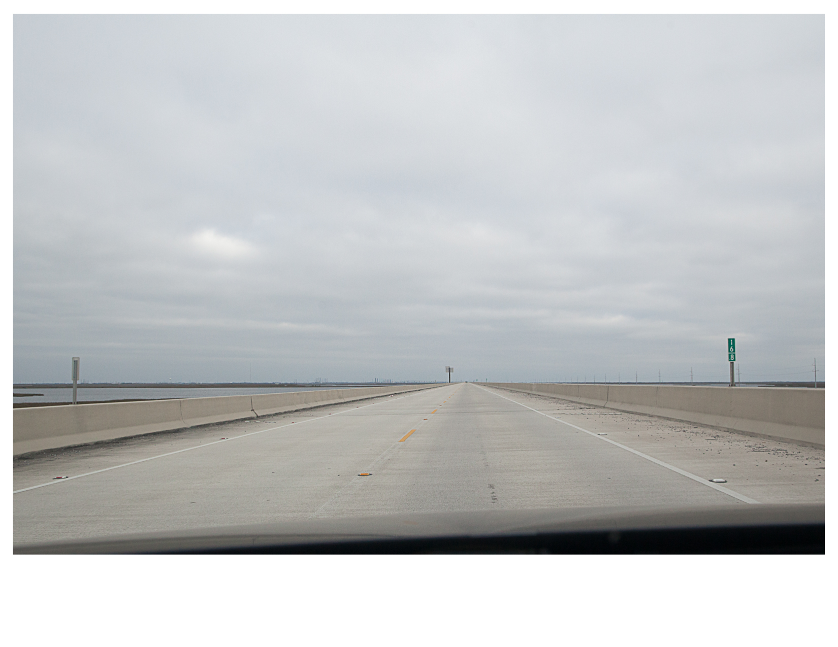LA 1, Northbound, Outside of Grand Isle, LA