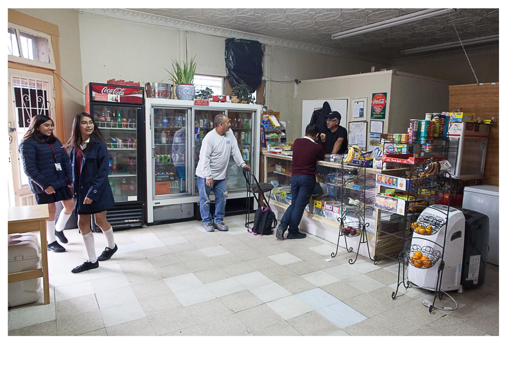 Inside Rivera Grocery after School, El Paso, TX