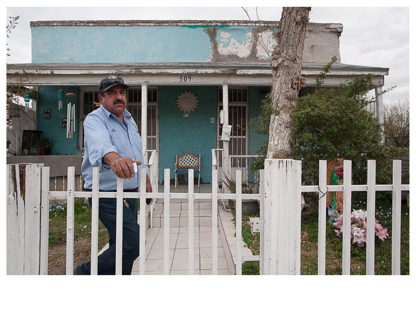 Jose outside his Mother's House in El Segundo Bario, El Paso, TX