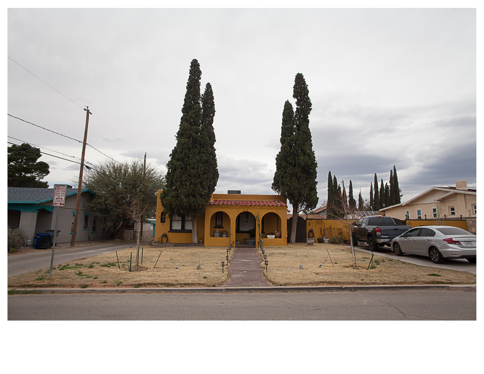 House and Trees, Rim-University Neighborhood, El Paso, TX