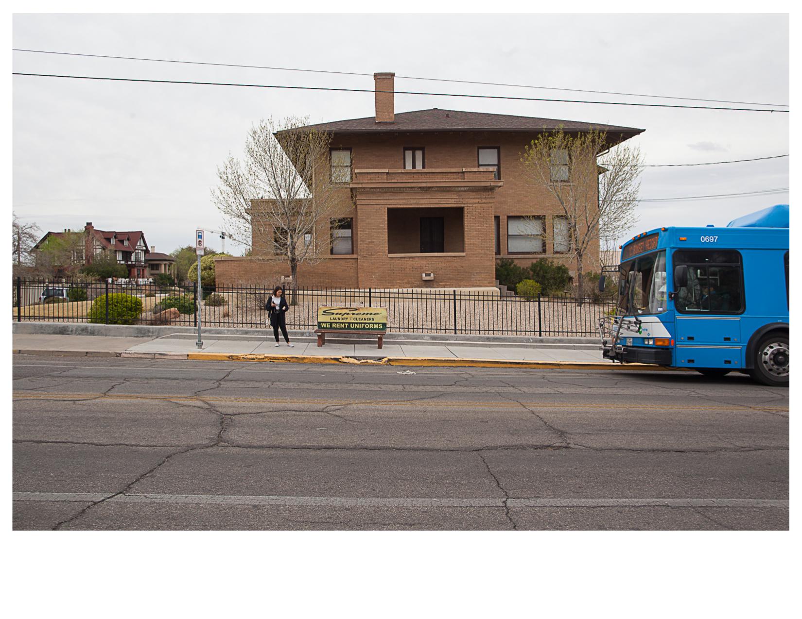 Bus Stop on Los Angeles Drive, El Paso, TX