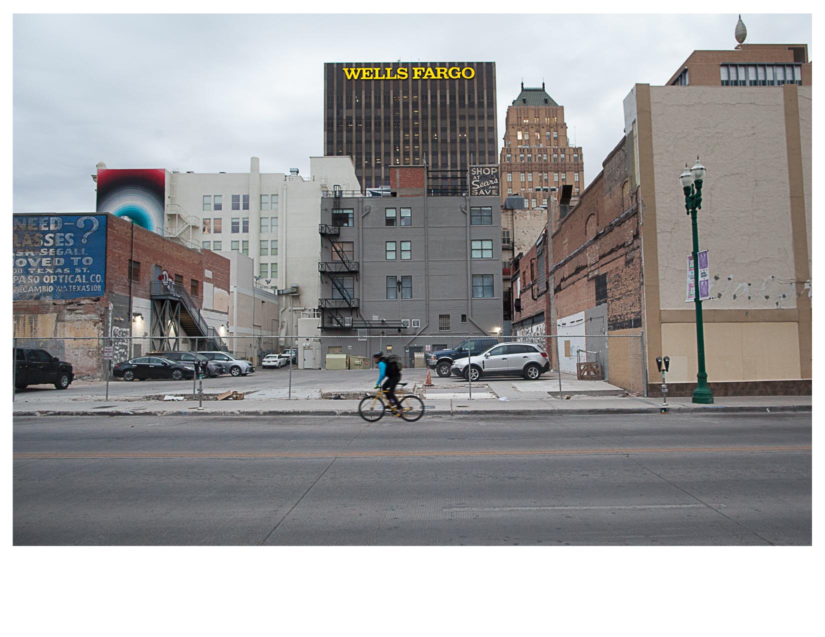 Wells Fargo Building, Seen from Mesa Street, El Paso, TX