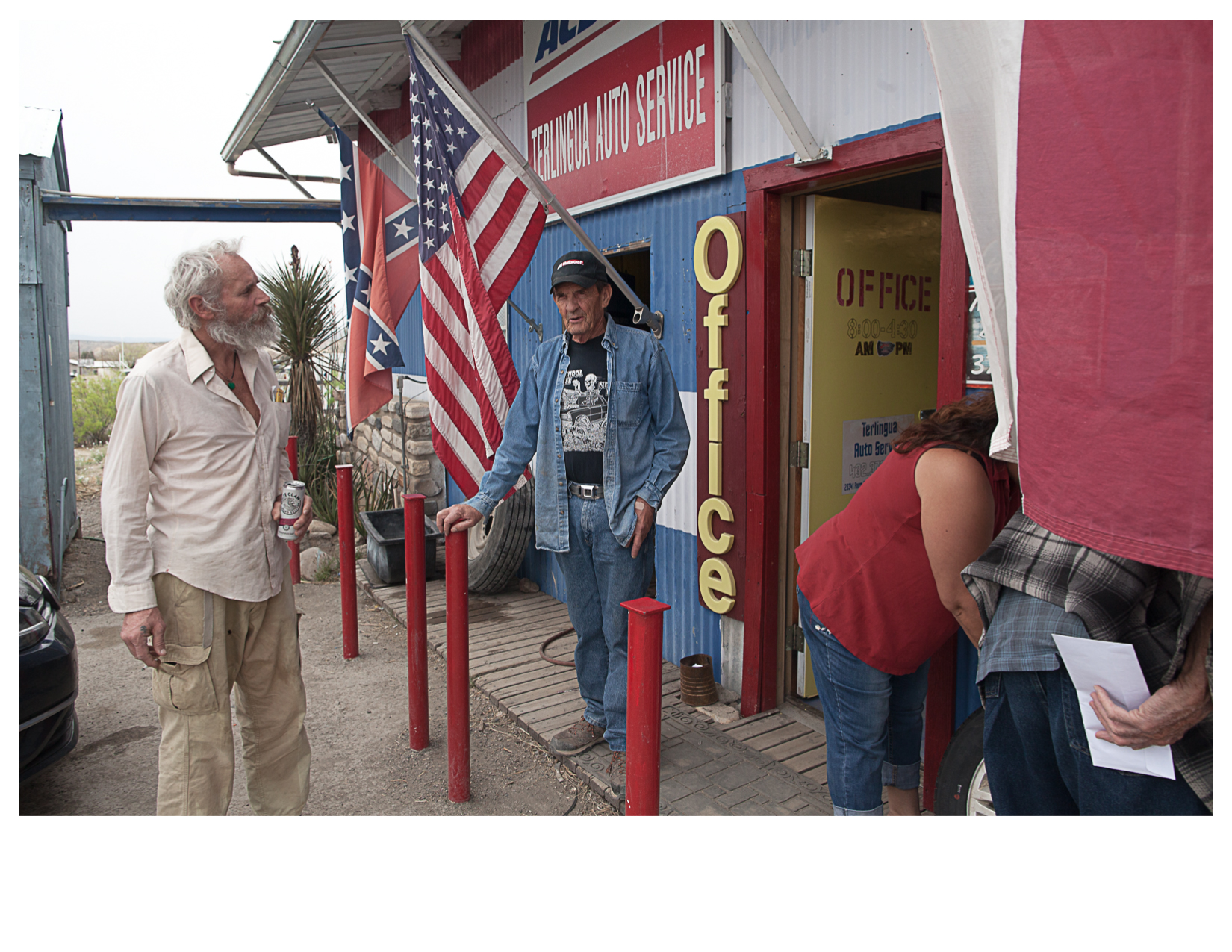 Outside Terlingua Tire Service, Terlingua, TX