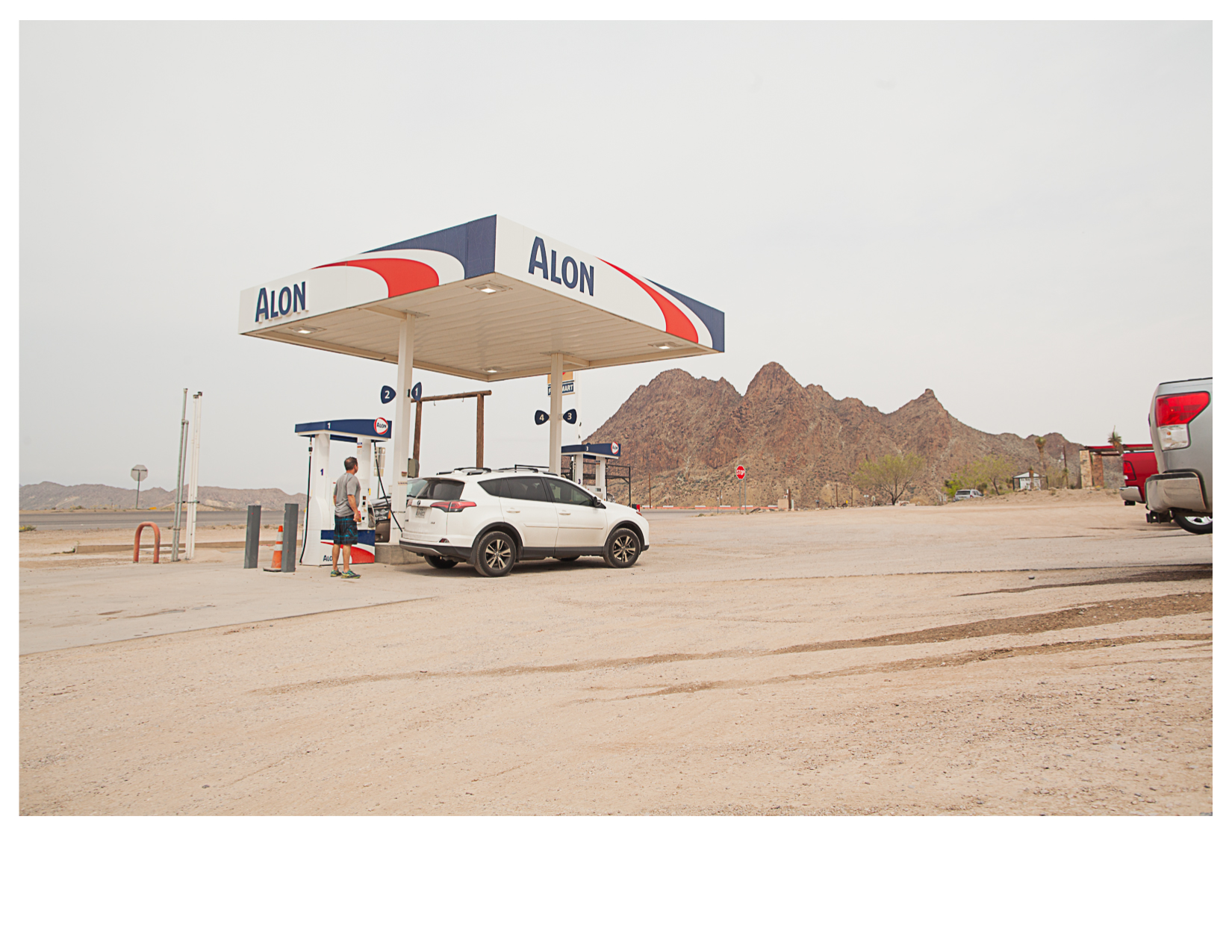 View of TX 118 from Alon Gas Station, Terlingua, TX