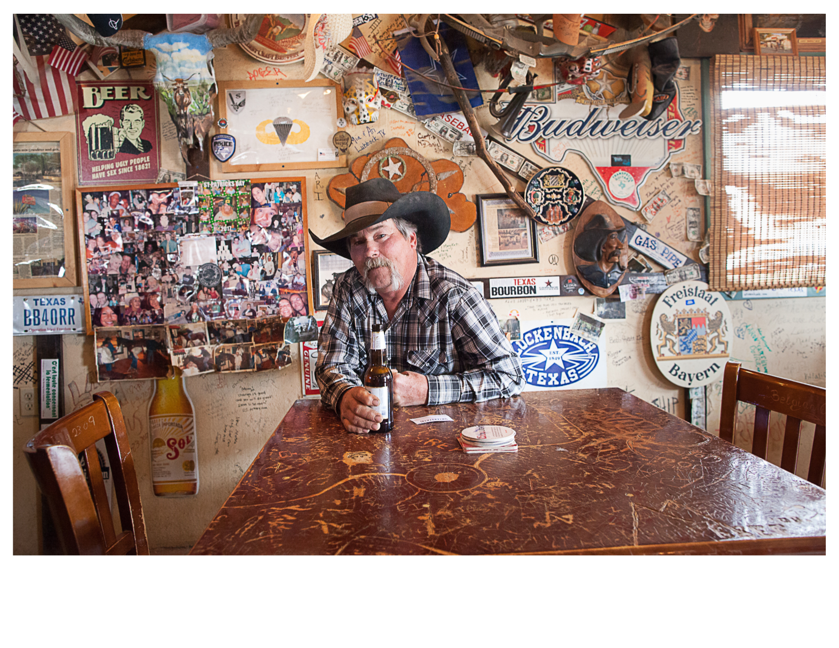 Marty, Inside Harry's Tinaja, Alpine, TX