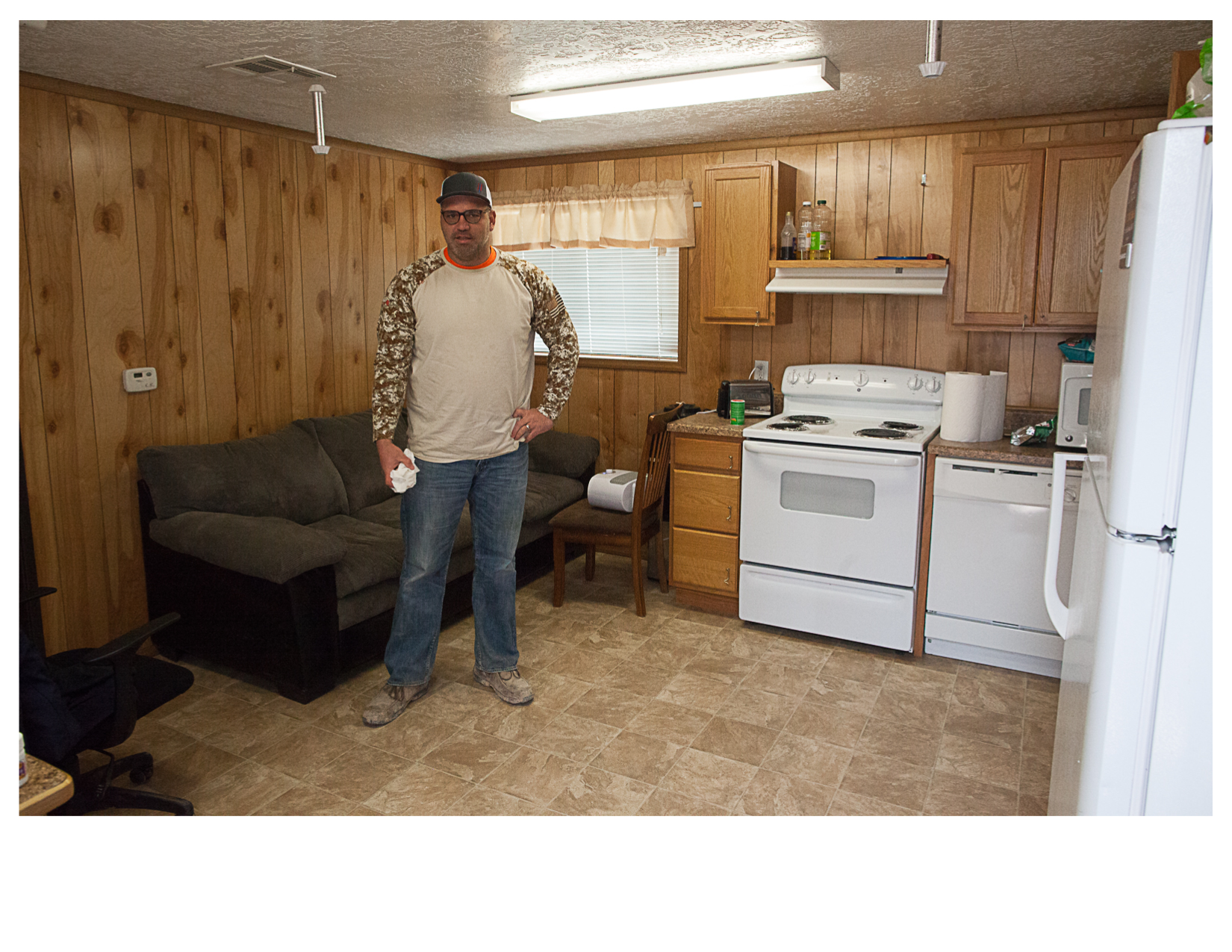 Inside Duncan's Oilfield Trailer Home, Pecos, TX
