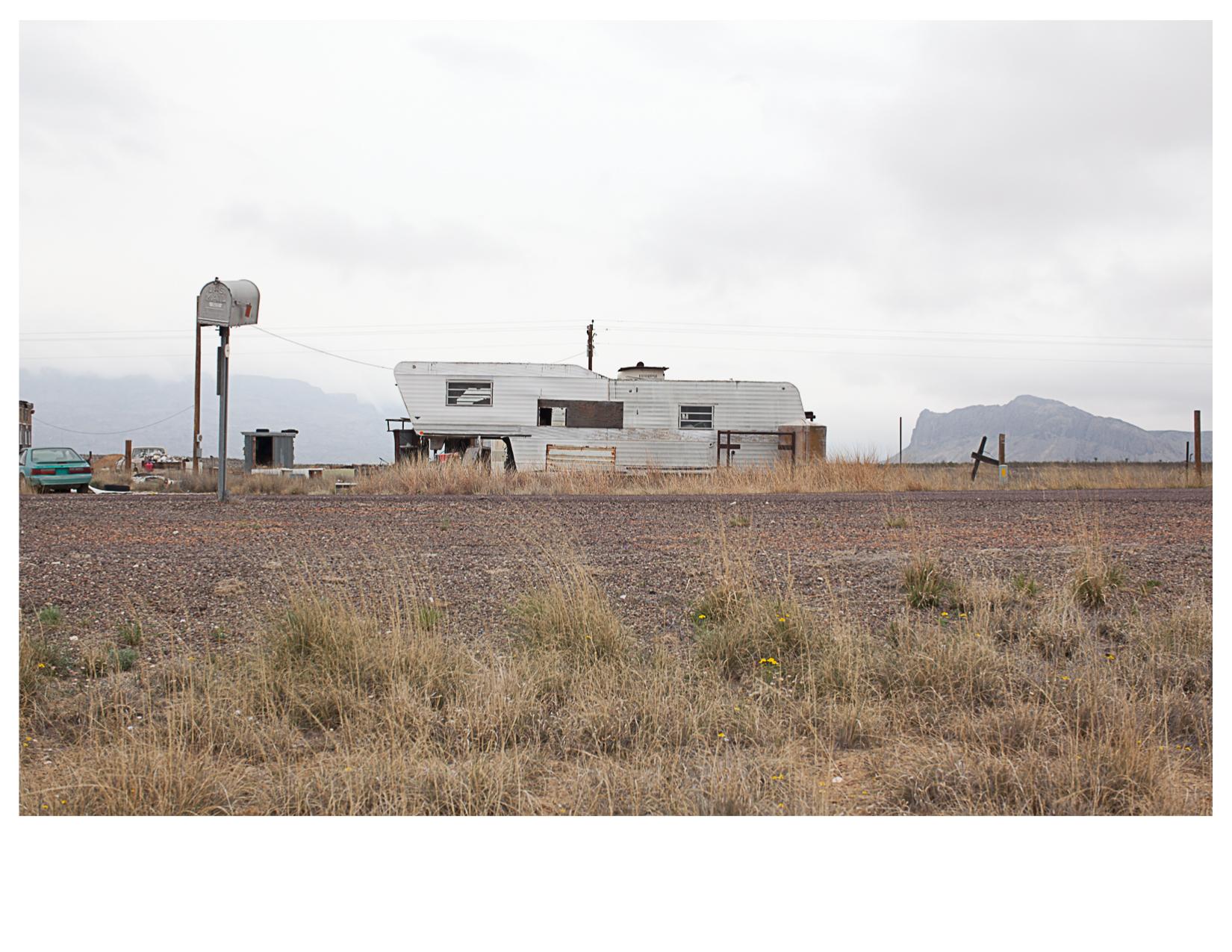 Trailer Home, North of Terlingua, TX