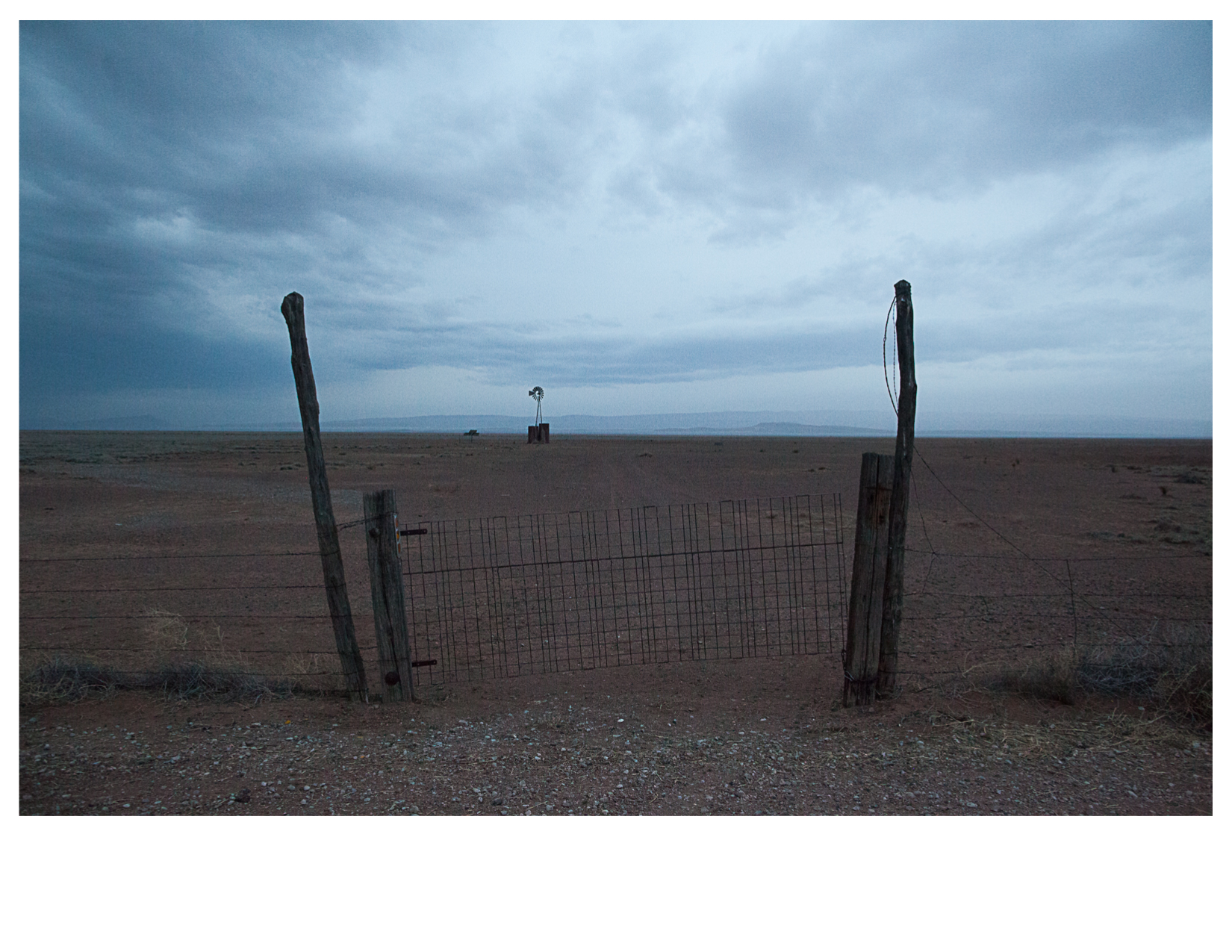 Fence and Well, US 90, North of Alpine, TX