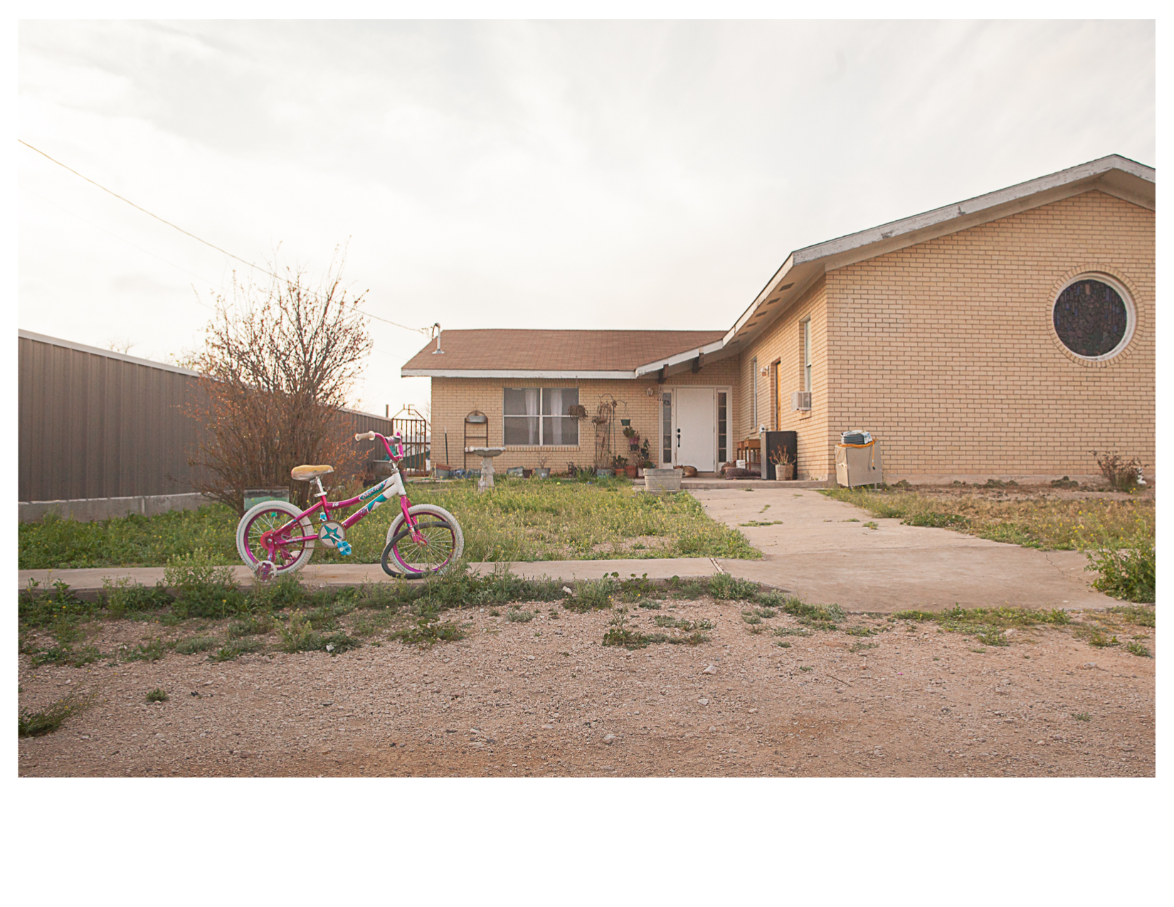 Bicycle and Front Yard, Sanderson, TX