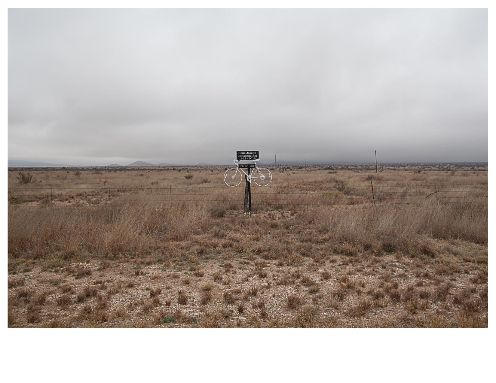 Ghost Bike, West of Marathon, TX