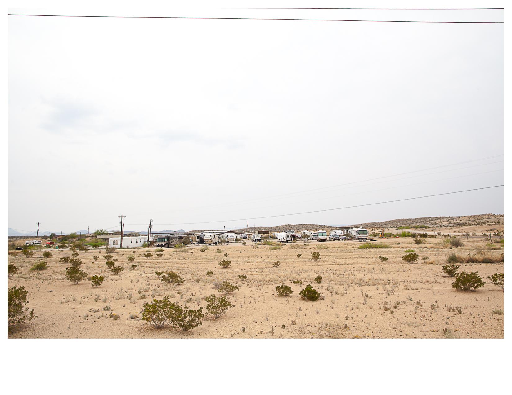 BJ's RV Park, Seen from TX 170, Terlingua, TX