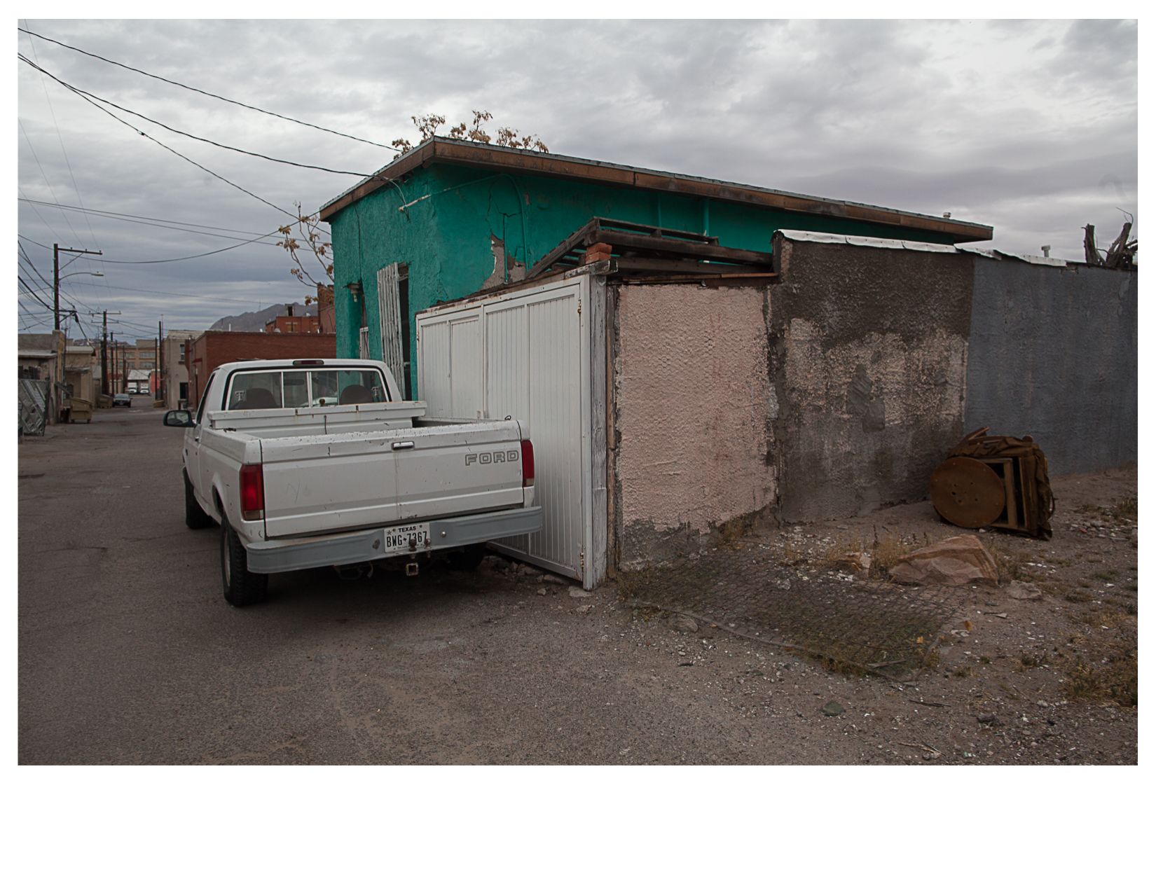 Pickup Truck and Alley, El Paso, TX.jpg