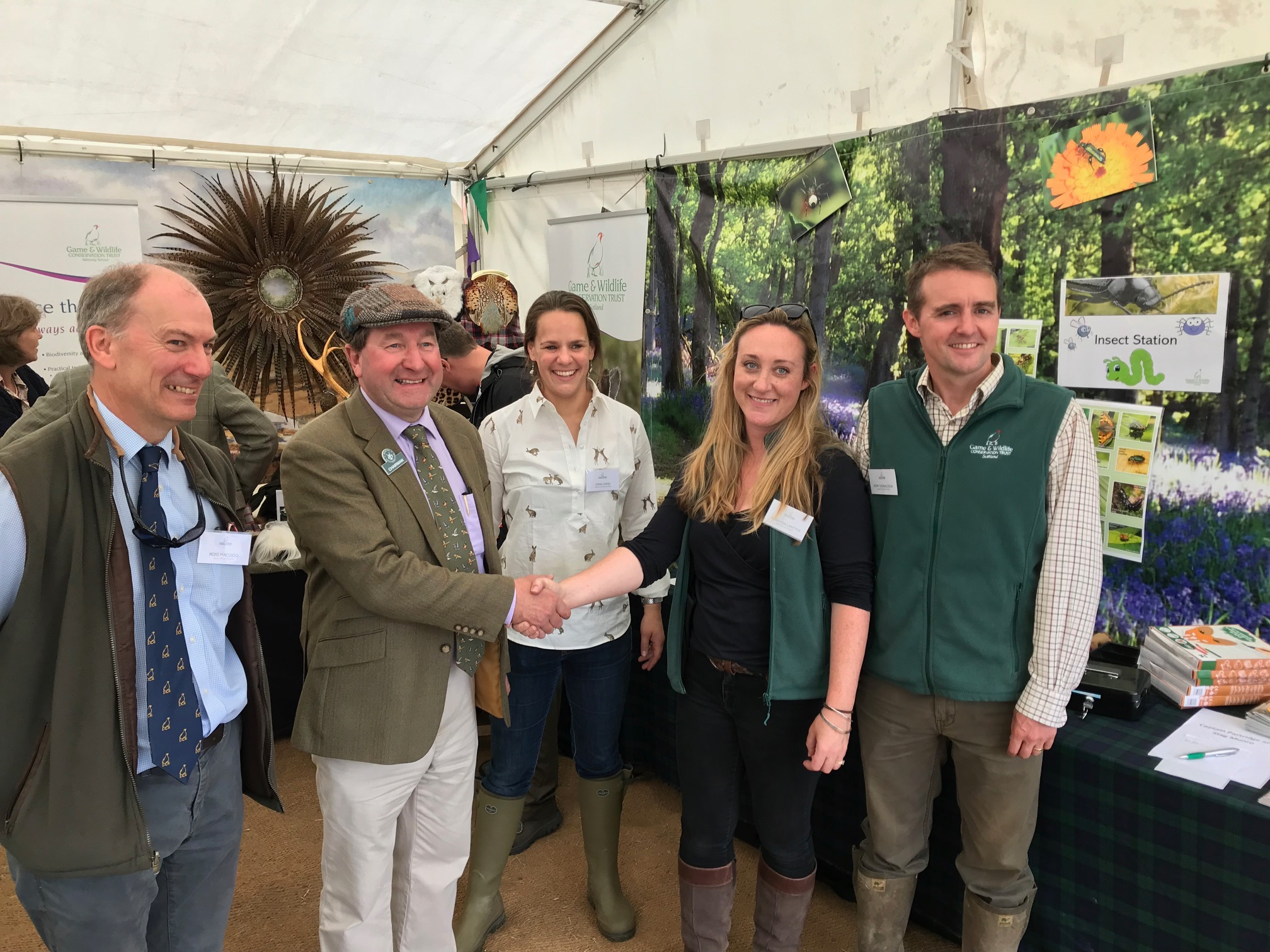 The Game & Wildlife Conservation Trust team at The Highland Field Sports Fair, Moy