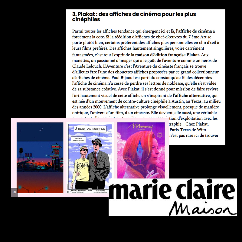MARIE-CLAIRE MAISON  - PART OF THE TOP 12 BEST POSTER SHOP IN THE 2019 SELECTION