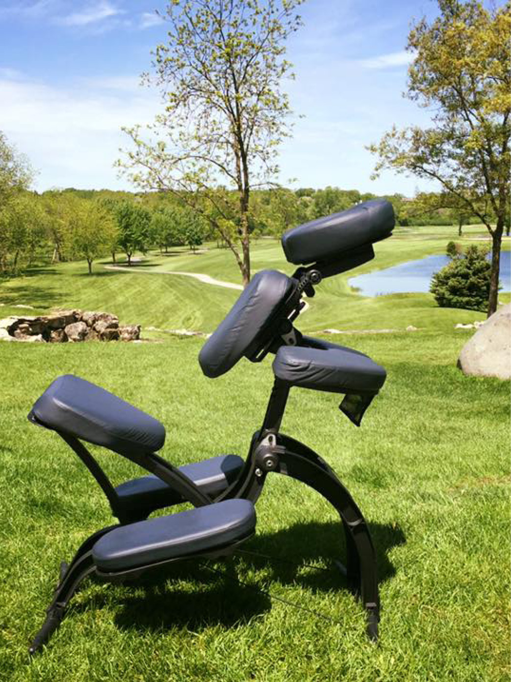 Chair Massage out on a beautiful golf course!