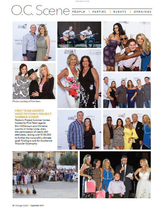 as seen in orange coast Magazine, september 2018: erin & christiNA helped raise over $100,000 in just one night for peyton's project! - CLICK PLAY BUTTON BELOW TO WATCH THE VIDEO