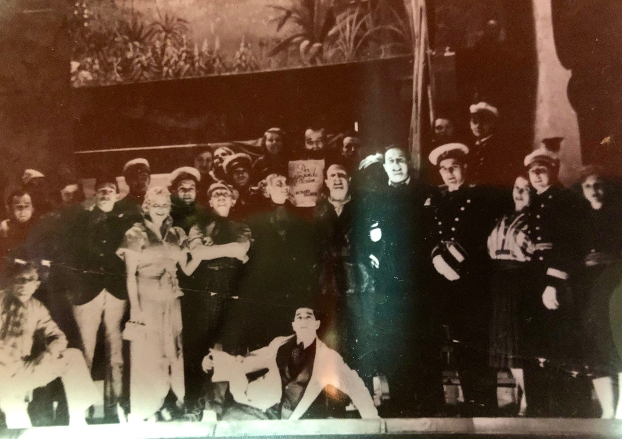 My grandfather is at the bottom on the floor. Right above him is the famous tenor, Richard Tauber.