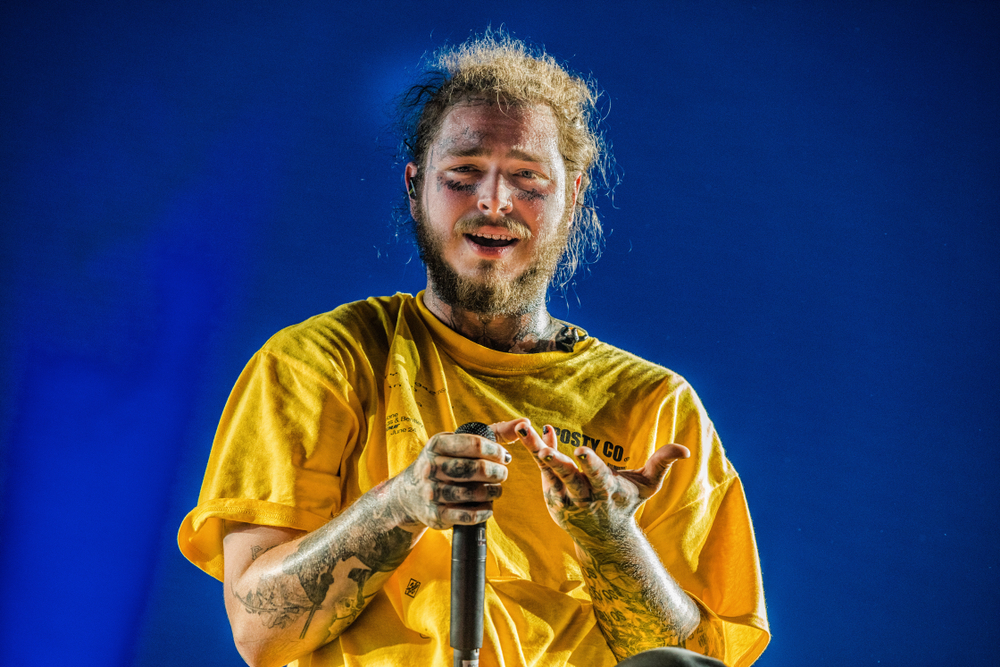 Post Malone Barbed Wire: The History Of Post Malone's Face Tattoos