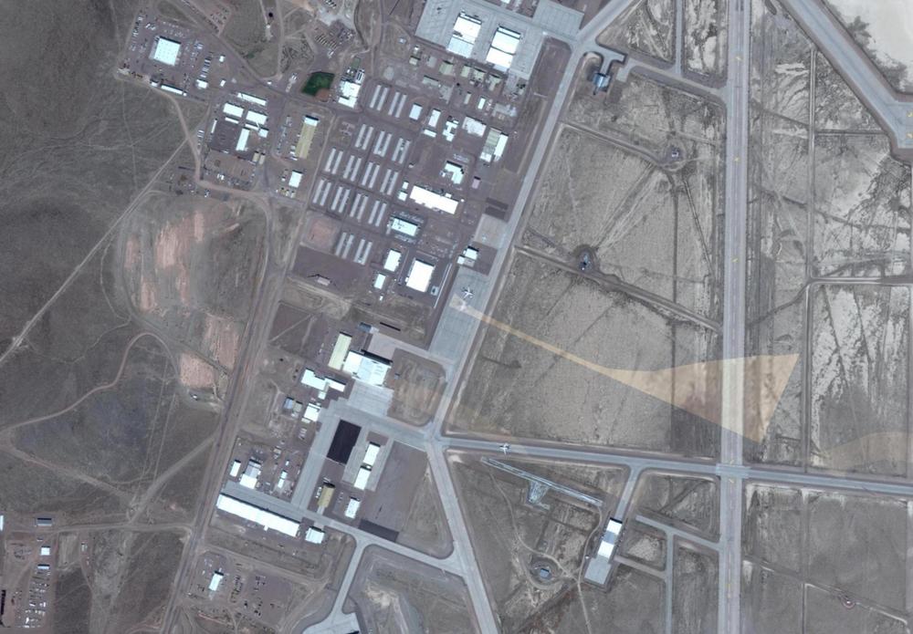 overhead satellite image of Area 51