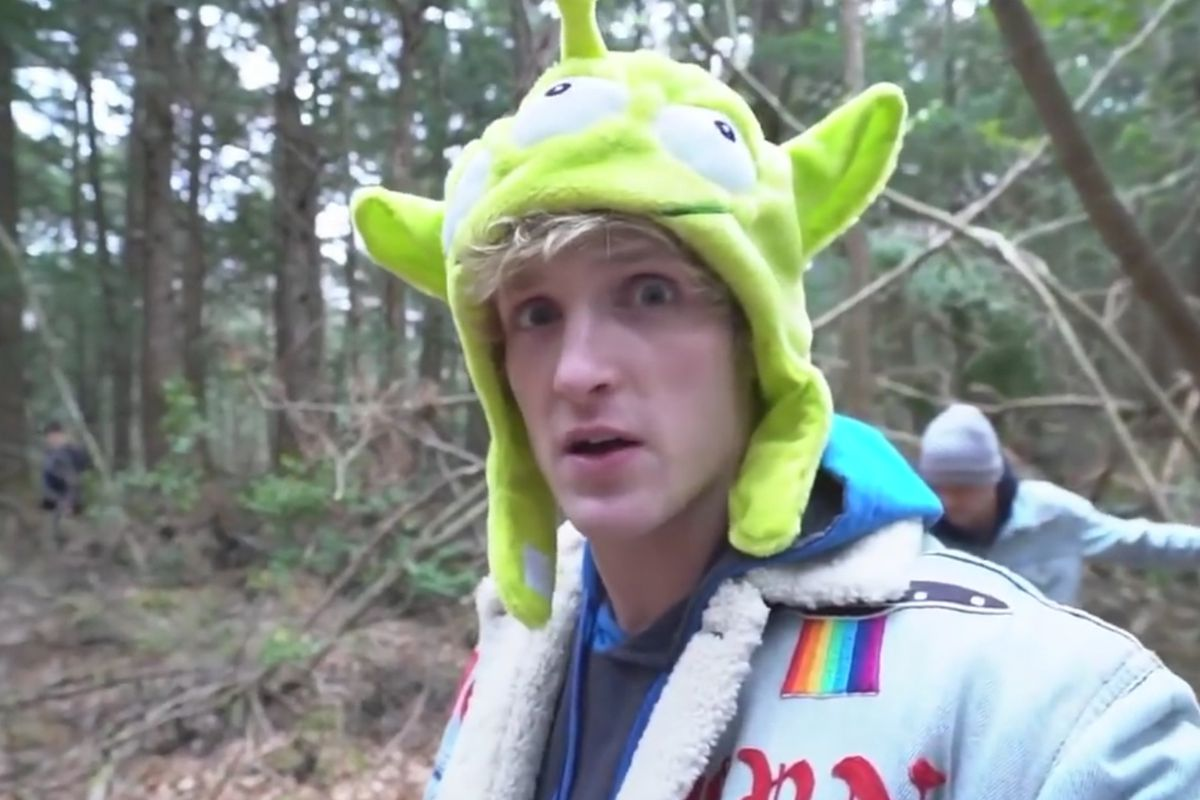 "Logan Paul vlogging at ""The Suicide Forest"""