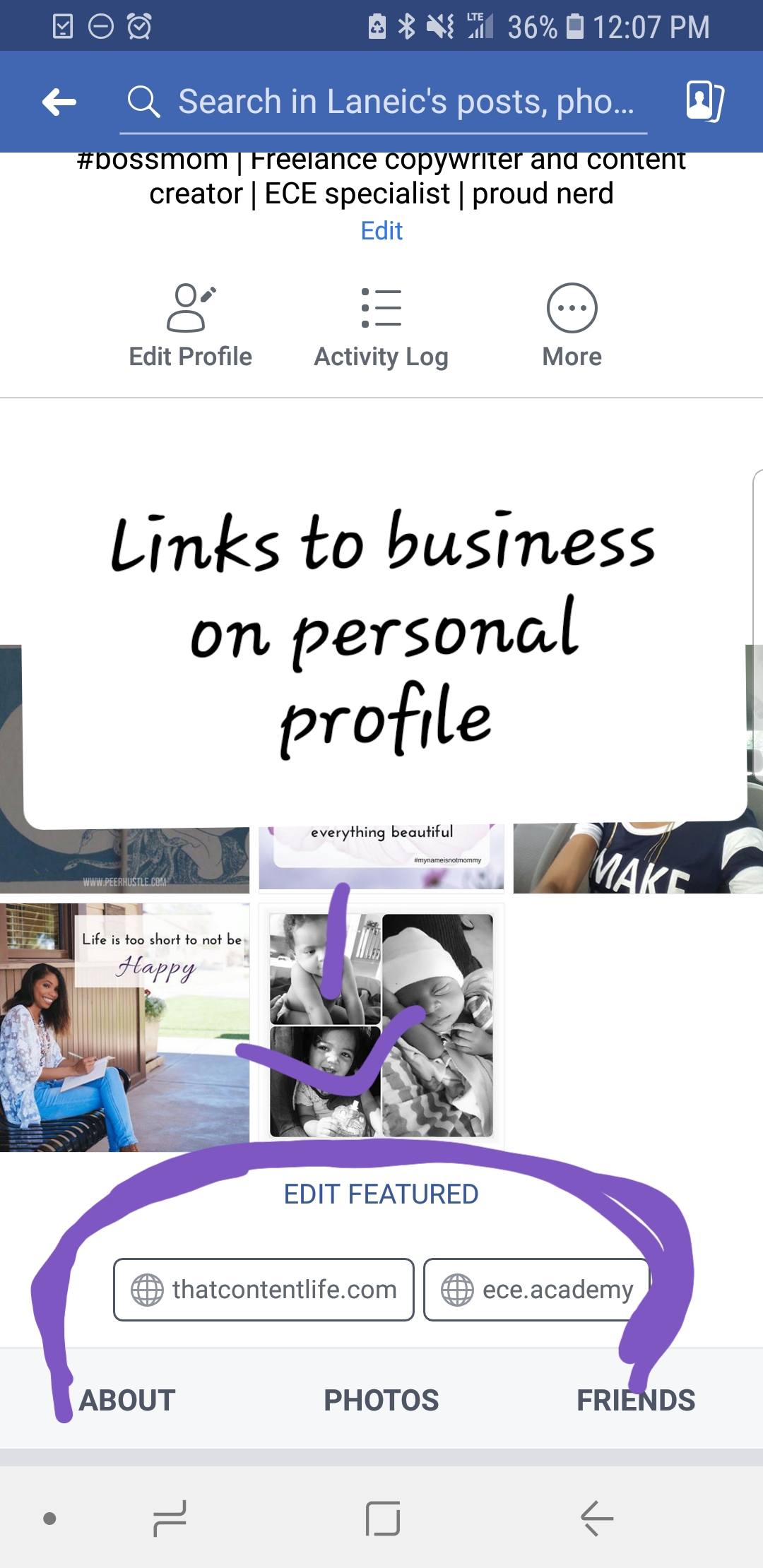 Optimizing your personal profile page for your business