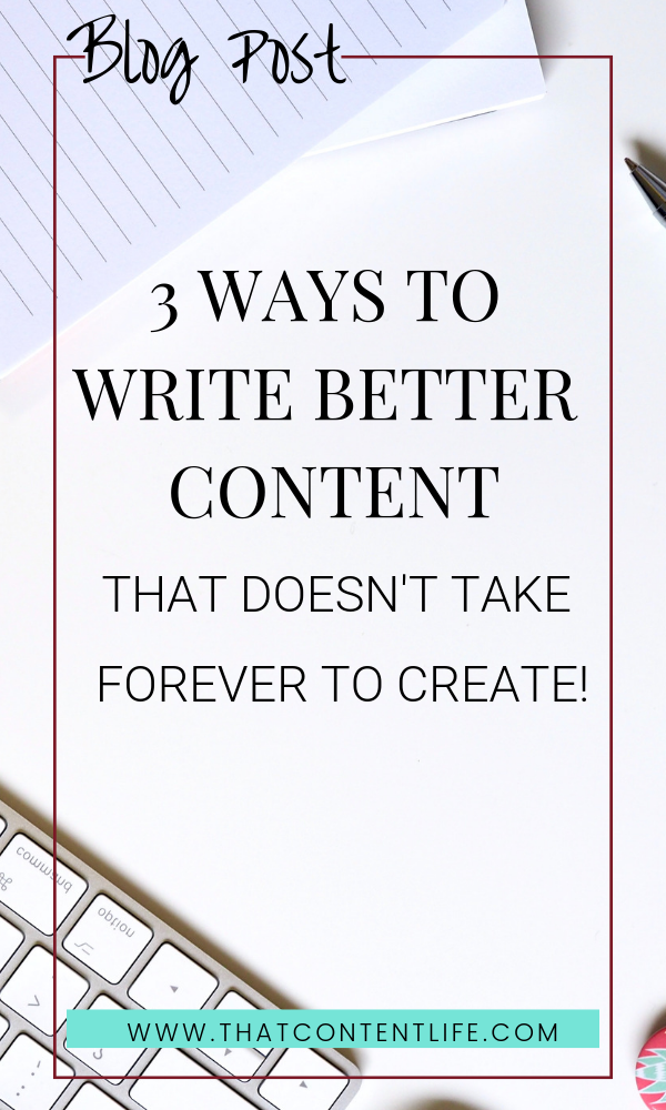 How to quickly write good content for your blog
