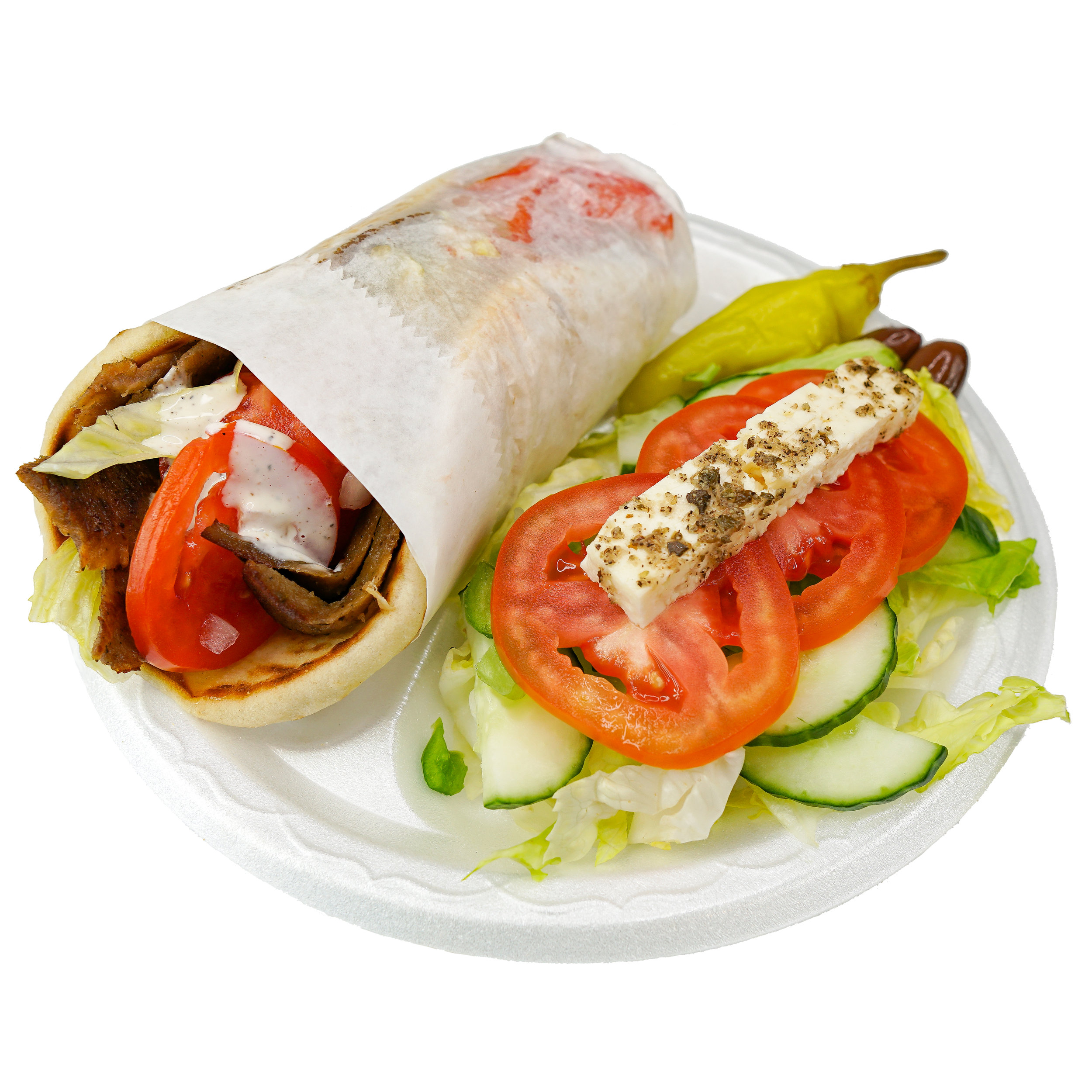 Gyro Wrap w/ Salad