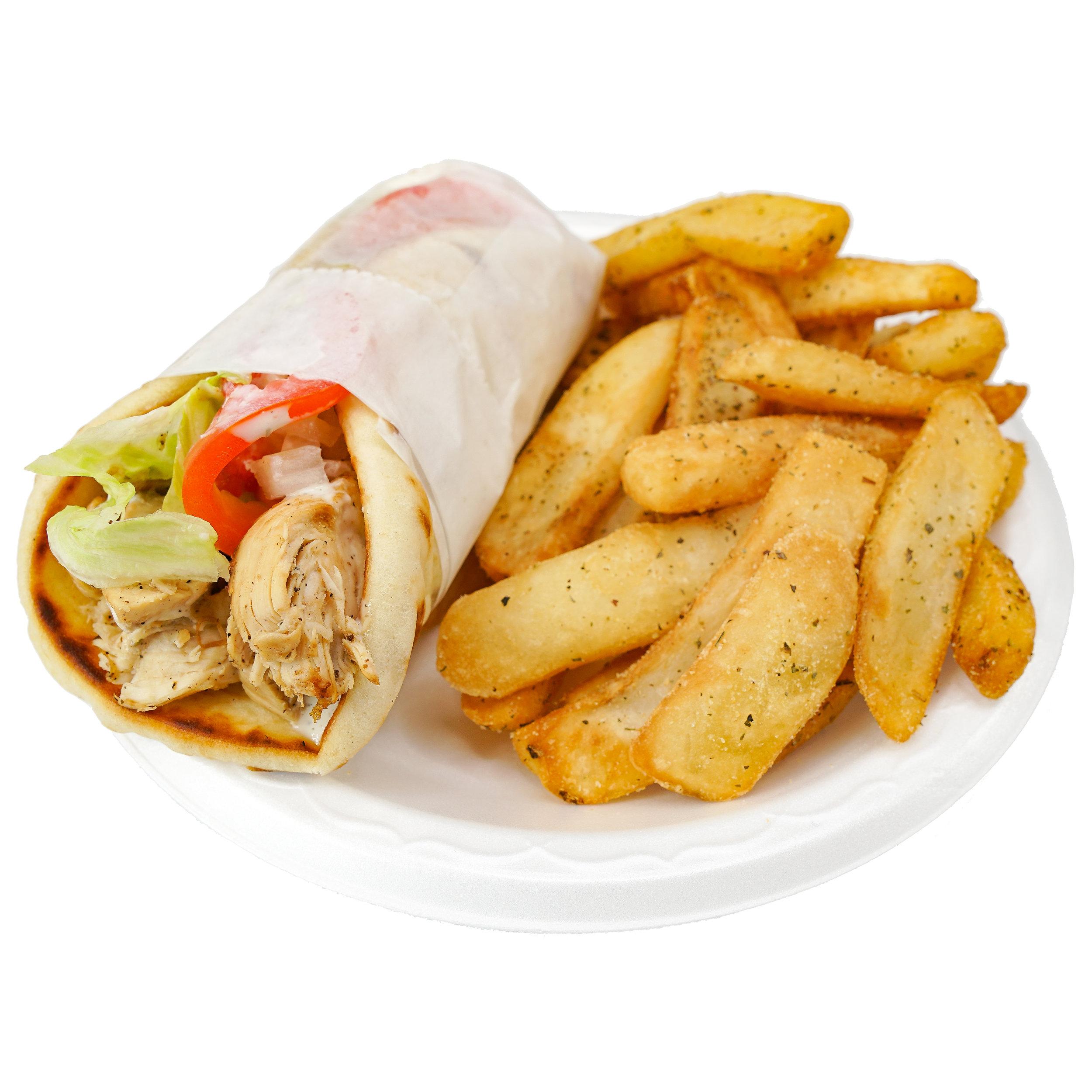Chicken Wrap w/ Fries