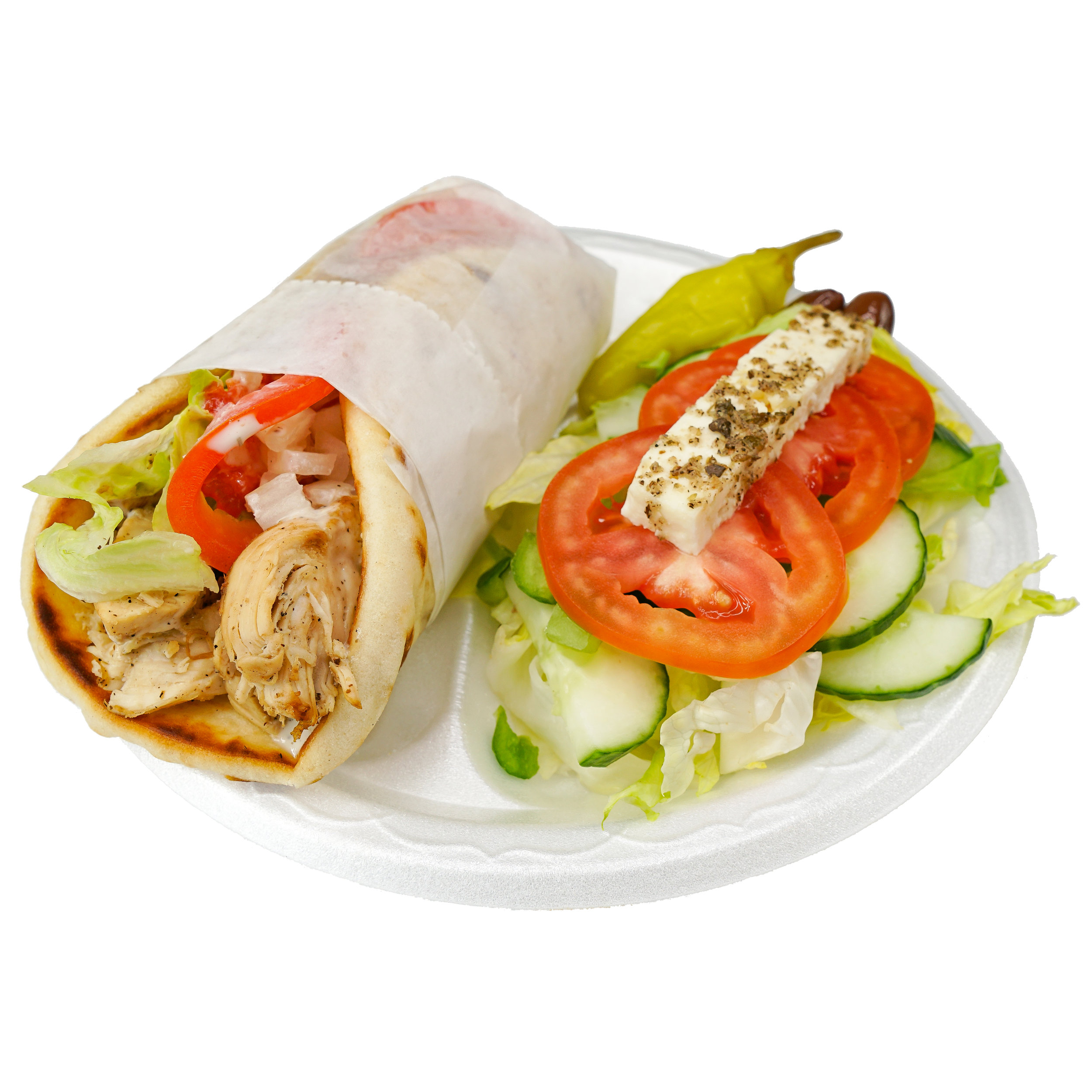 Chicken Wrap w/ Salad